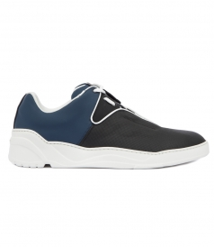 BLUE AND BLACK LEATHER SNEAKER