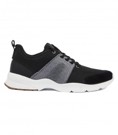 NEOPRENE LACE LOW TOP SNEAKERS