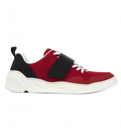 RED & BLACK LOW TOP SNEAKERS