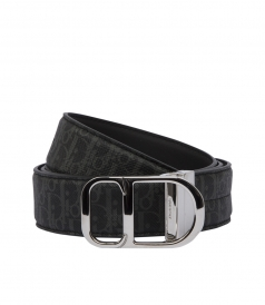 DARKLIGHT CANVAS AND BLACK LEATHER BELT