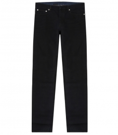 BLACK STRETCH COTTON JEANS