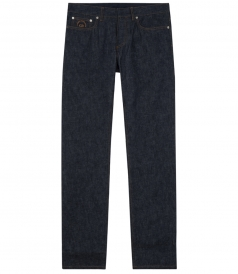 HAND-EMBROIDERED STITCHED DENIM CANVAS JEANS