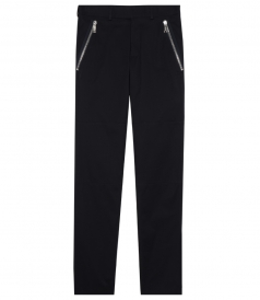 STRETCH SKINNY PANTS WITH ZIPPED POCKETS