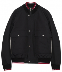 RIBBED EDGING MULTIPLE POCKETS BOMBER