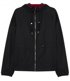 HOODED JACKET WITH ELASTIC HEM