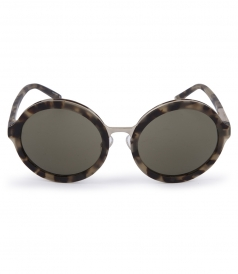 ROUND ANIMAL PRINTED SUNGLASSES