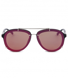 ROUND MIRRORER RED AVIATOR SUNGLASSES