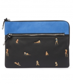 IPAD POUCH WITH EMBROIDERED BIKINI BABES