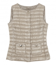 BUTTONED UP PADDED GILET