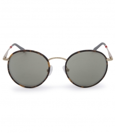 SUNGLASSES - TIGER TORTOISESHELL RETRO ROUND FRAME SUNGLASSES