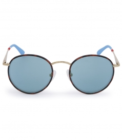 TIGER TORTOISESHELL RETRO SUNGLASSES