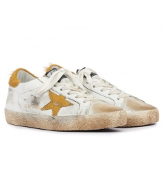 SUPERSTAR SNEAKERS WITH PONYSKIN-EFFECT STAR
