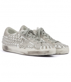 SUPERSTAR STUDDED LOW TOP SNEAKERS