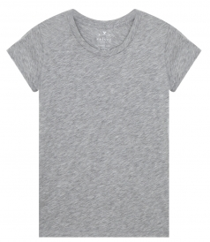 VELVET BY GRAHAM & SPENCER - ODELIA COTTON SLUB CREW NECK T-SHIRT