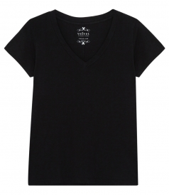 VELVET BY GRAHAM & SPENCER - LILITH COTTON SLUB V-NECK T-SHIRT