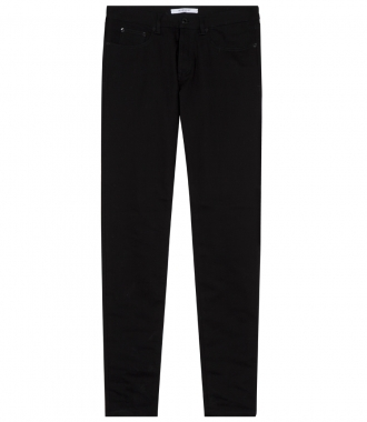 STARS APPLIQUED STRETCH COTTON JEANS