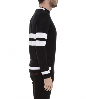 BLOCK STRIPE KNITTED PULLOVER