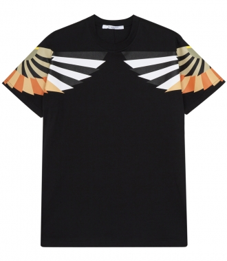 WING PRINT CREW NECK T-SHIRT