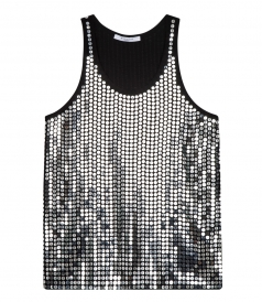 SILK BLEND SEQUINED TANK TOP
