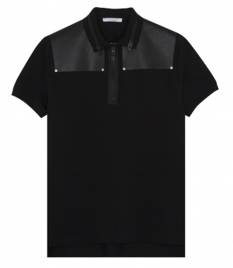 LEATHER PATCHED ZIPPERS-DETAILED POLO