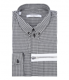 COTTON-POPLIN CHECKED SHIRT