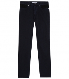 JEANS - MID-RISE TAPERED JEANS WITH WAISTBAND DETAIL