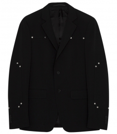 PURE WOOL STUDDED JACKET