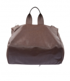 PANDORA GRAINED-LEATHER MESSENGER BAG