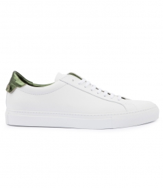 URBAN STREET LOW TOP SNEAKER WITH GREEN HEEL