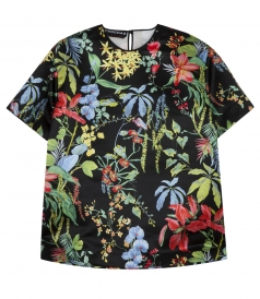 MULTICOLOURED FLORAL PRINT TOP