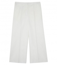 HIGH-RISE WIDE LEG CROPPED PANTALONE