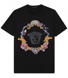 CLOTHES - PURE COTTON MEDUSA PRINT T-SHIRT
