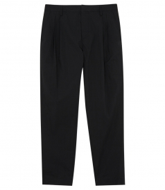 COTTON BLEND PLEATED FRONT PANT