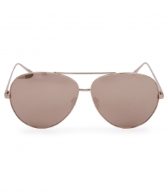 TOP RIM ROSE GOLD METAL AVIATOR SUNGLASSES