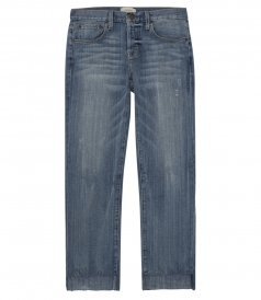 THE CROSSOVER JEAN WITH UNEVEN CUT HEM