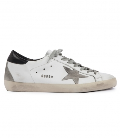 WHITE & BLACK LEATHER SUPERSTAR SNEAKERS