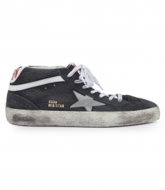 MID STAR SNEAKERS WITH LAMINATED LEATHER STAR