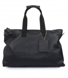 THE DARCY HANDBAG IN NAVY TEXTURED LEATHER