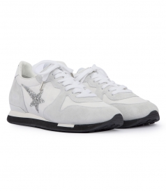SHOES - SUEDE BLEND CRYSTAL COATED STAR HAUS HALLEY SNEAKERS
