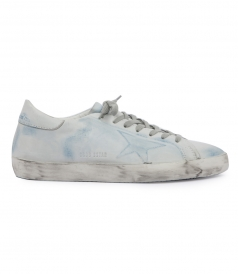OVERDYED SMEARED CALFSKIN SUPERSTAR SNEAKERS
