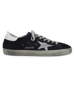 SUEDE SUPERSTAR SNEAKERS WITH LAMINATED LEATHER STAR