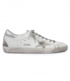 SUPERSTAR SNEAKERS WITH LAMINATED LEATHER HEEL TAB