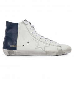 SHOES - TWO TONE CALF LEATHER FRANCY SNEAKERS