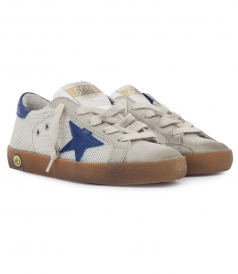 SUEDE & TECHNICAL FABRIC BLEND SUPERSTAR SNEAKERS