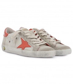 SUEDE & TECHNICAL FABRIC SUPERSTAR SNEAKERS