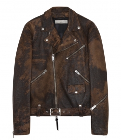 LEATHER SCRAPED BY HAND VINTAGE JACKET