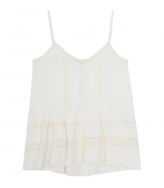SPAGHETTI STRAP TOP WITH LACE DETAILS