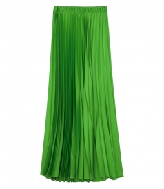 PIANOX PLEATED LONG SKIRT WITH ELASTIC WAISTBAND