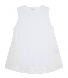 PURE COTTON SLEEVELESS TANK TOP