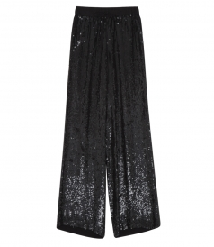 HANDMADE FULL SEQUINED TROUSERS WITH ELASTIC WAISTBAND